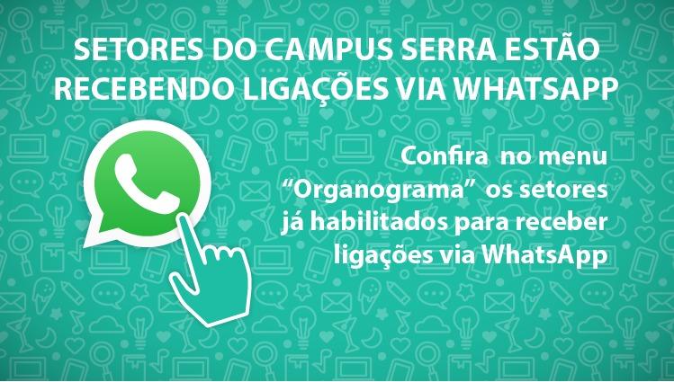Setores do Campus Serra estão recebendo ligações via WhatsApp